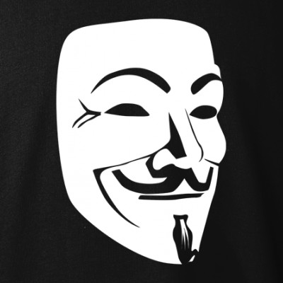 polopokol Guy Fawkes - Anonymous fekete