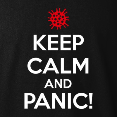 polopokol Keep Calm and PANIC! fekete